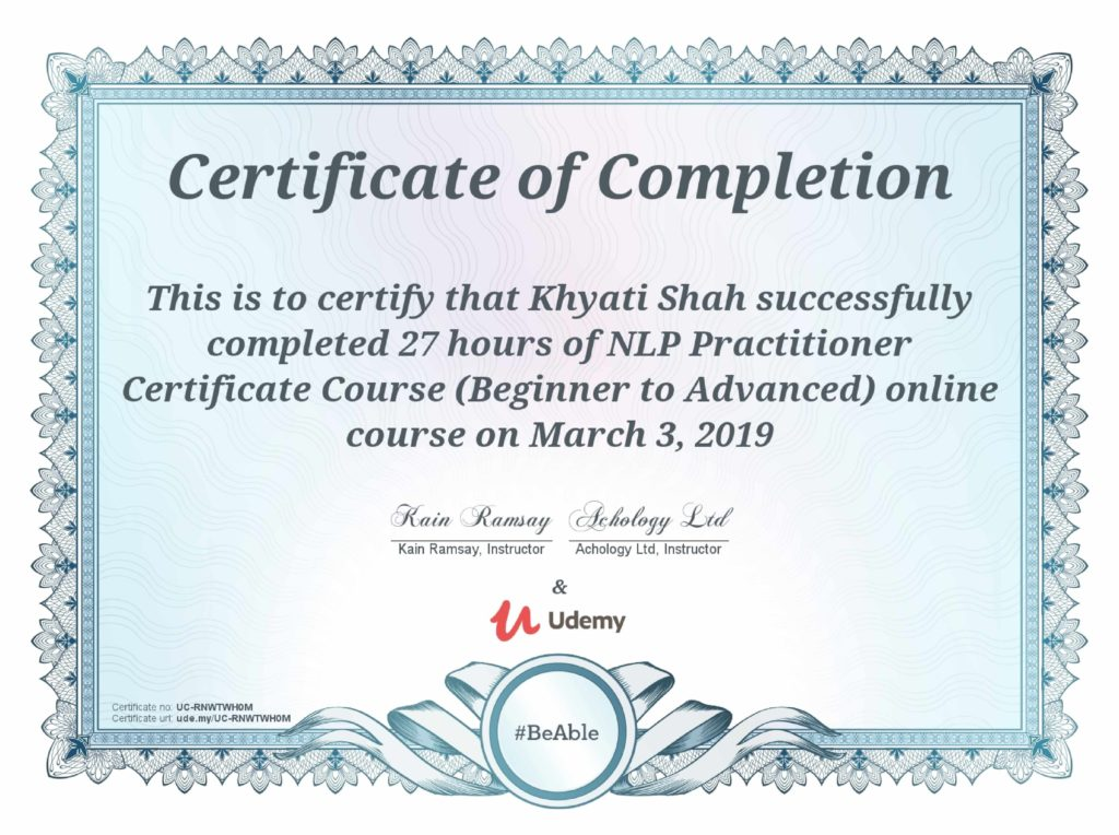 NLP Certificate