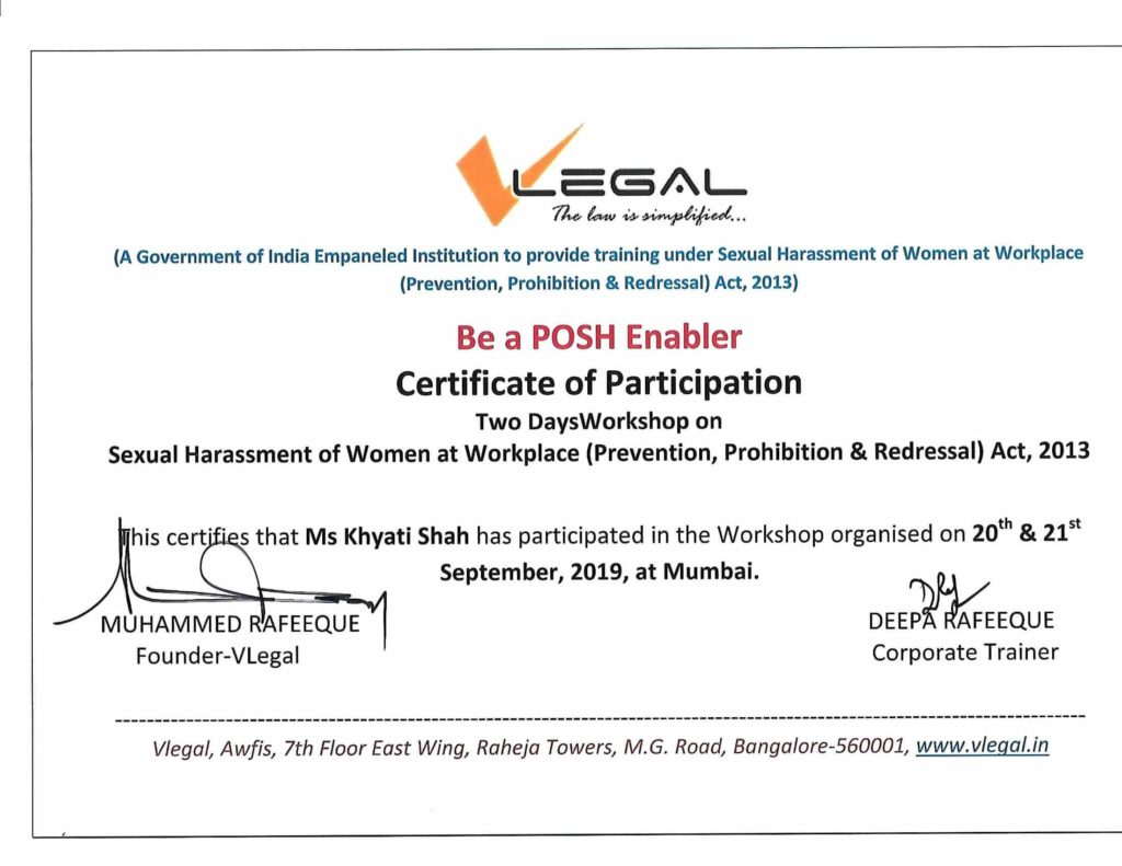 Posh Certificate