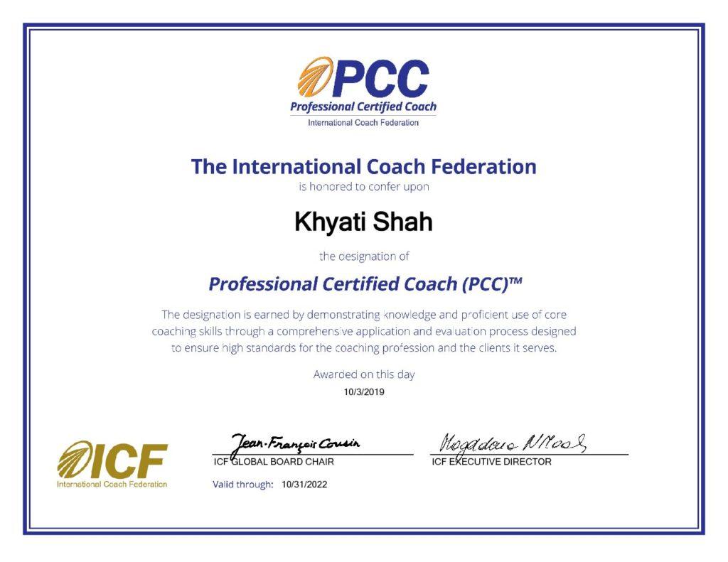 PCC Certificate